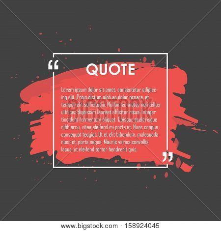 Quote Text Bubble. Commas, Note, Message And Comment. Design Element