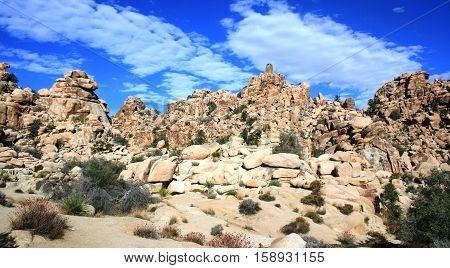 Geology at Hidden Valley, Joshua Tree National Park, CA