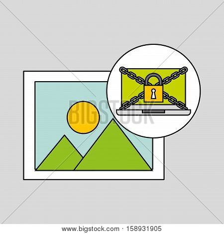 picture security internet technology vector illustration eps 10