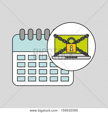 calendar security internet technology vector illustration eps 10