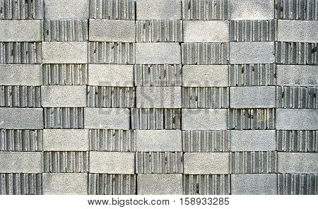 concrete blocks closeup and background photo stock