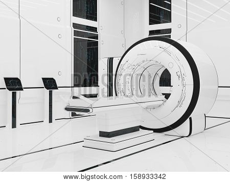 3D illustration.Render Magnetic resonance imaging. Technology medicine. mri