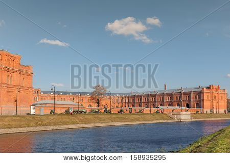 SAINT PETERSBURG RUSSIA - OCTOBER 24 2016: Military Historical Museum of Artillery Engineers and Signal Corps it is a state-owned military museum in Saint Petersburg.