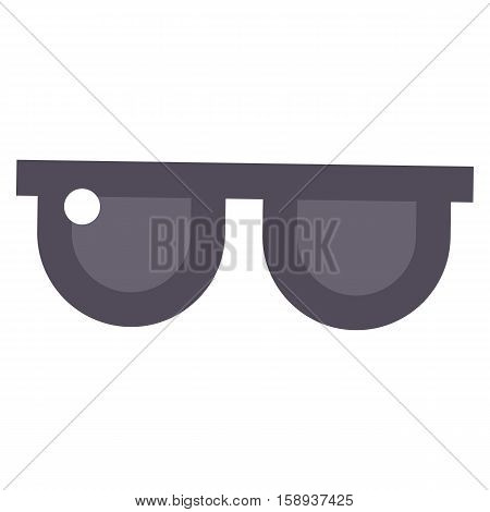 Vector glasses isolated on white background. Hipster fashion goggles. Modern academic lens accessory tool for human face isolated vector. Fashion stylish optical eyesight.
