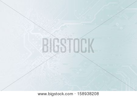Detail Of Printed Circuit Board, In Light Blue Tones, As A Background For Your Business Presentation