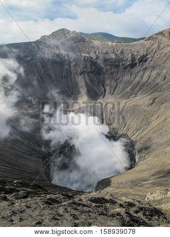Crater of Mount Bromo, Java Island, Indonesia