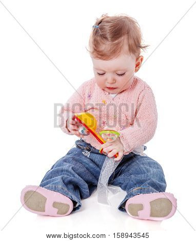Girl Playing Rattle