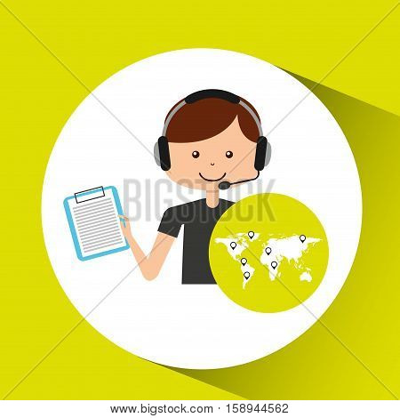call center support logistic check list vector illustration eps 10
