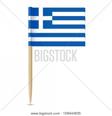 Flag of Greece. Flag toothpick isolated on white background 10eps