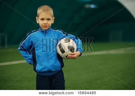 boy and a football