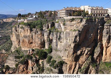 El Tajo Gorge Canyon, Ronda, Andalusia, Spain