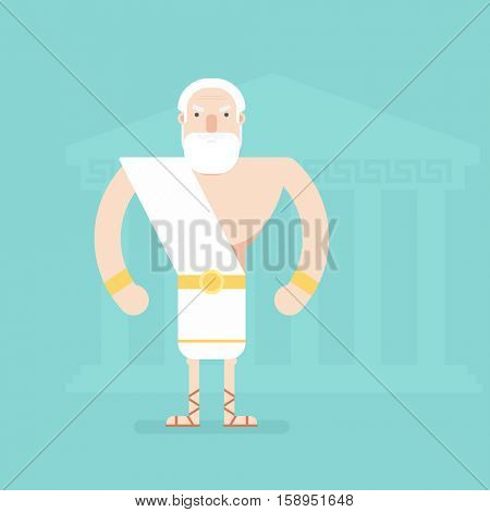 ancient Greek philosopher. Flat character