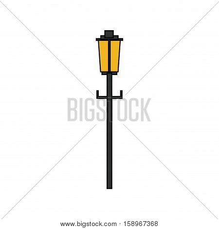 Lamp of park icon. Outdoor season summer and recreation theme. Isolated design. Vector illustration