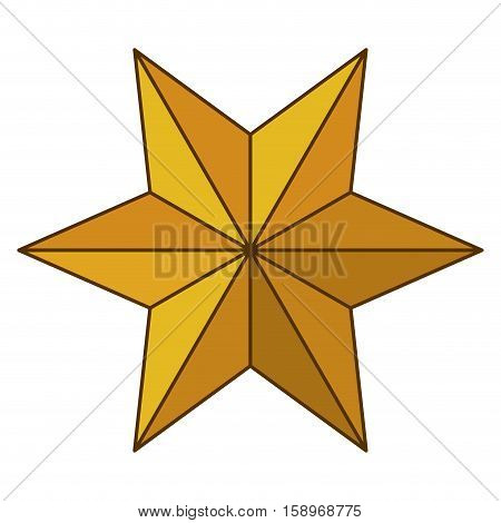 Star icon. Nativity merry christmas season and decoration theme. Isolated design. Vector illustration