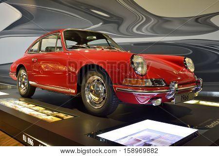 Wolfsburg, Germany - April 15, 2016. Cadillac Eldorado Biarritz from 1959 on display at Autostadt museum in Wolfsburg.