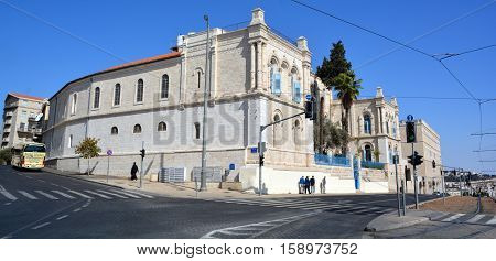 JERUSALEM ISRAEL 25 11 16: Jerusalem Historical City Hall Building was 1 of the 4 public buildings constructed by the City of Jerusalem during the British mandate