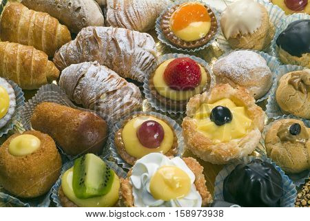 various types of pastries