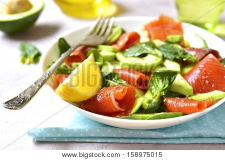Vegetable Salad With Salted Salmon.