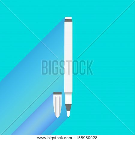 Illustration of white felt-tip pen cartoon in vector