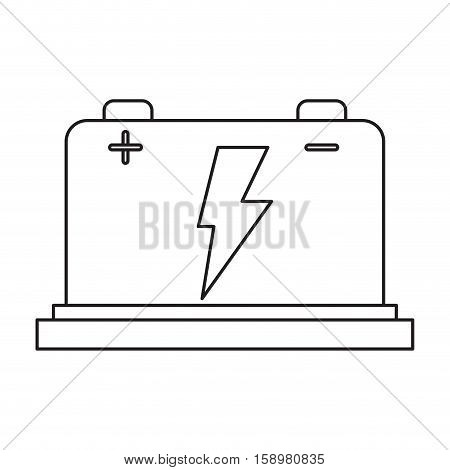 car battery high voltage mechanic pictogram vector illustration eps 10