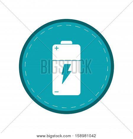 battery charge alkaline lighting green circle vector illustration eps 10