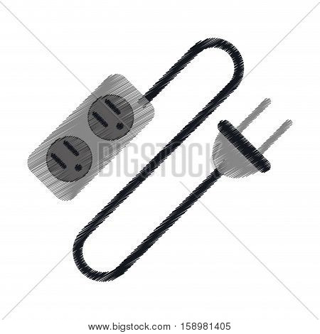 ed electric extension cord cable and plug vector illustration eps 10