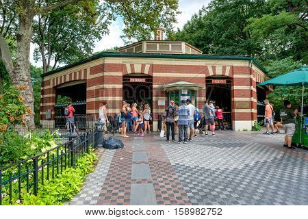NEW YORK,USA - AUGUST 19,2016 : The historic Central Park Carrousel in New York City