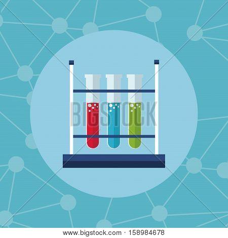 test tube rack laboratory icon vector illustration eps 10