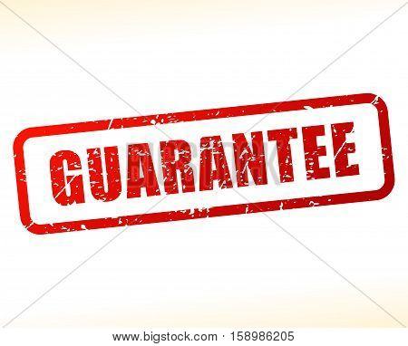 Illustration of guarantee stamp on white background