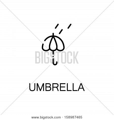 Rain flat icon. Single high quality outline symbol of spring for web design or mobile app. Thin line signs of cloud for design logo, visit card, etc. Outline pictogram of rain