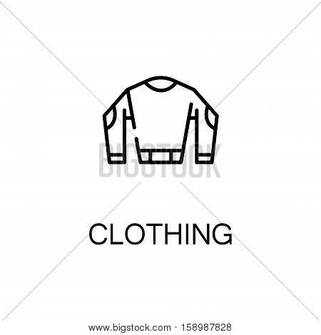 Sweater flat icon. Single high quality outline symbol of winter for web design or mobile app. Thin line signs of clothing for design logo, visit card, etc. Outline pictogram of winter clothing