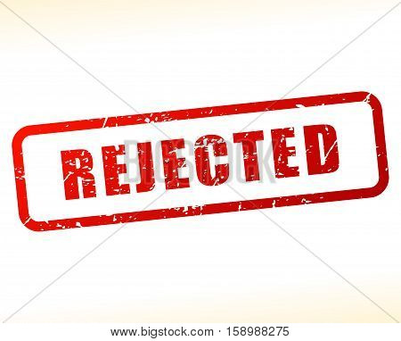 Illustration of rejected stamp on white background