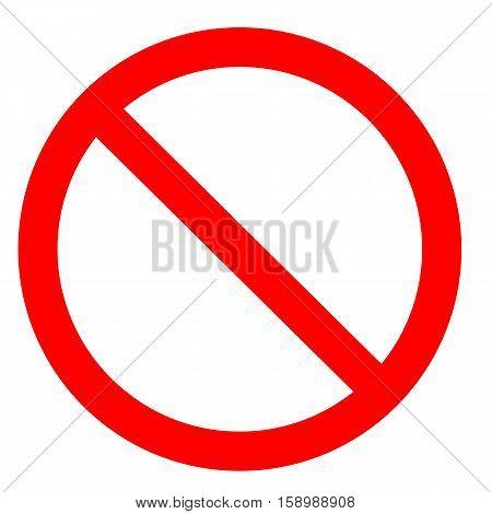 Prohibition symbol. Prohibition Sign. Prohibition icon isolated on white background.