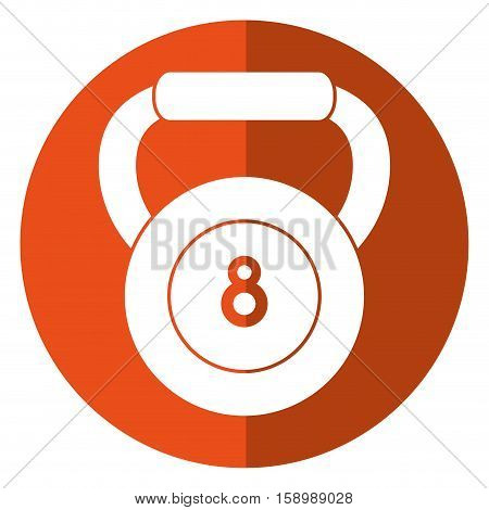 kettlebell weight fitness gym icon shadow vector illustration eps 10