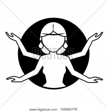 Shiva indian god icon vector illustration graphic design