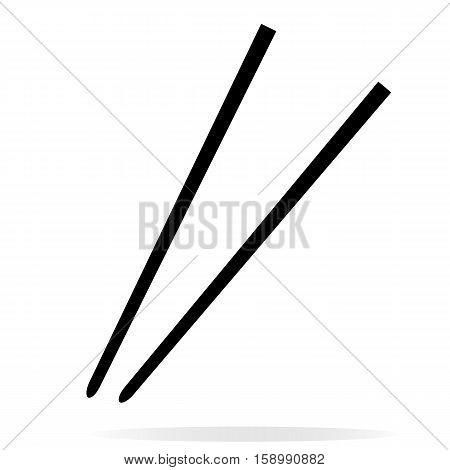Chopsticks icon on white background. Chopsticks sign.