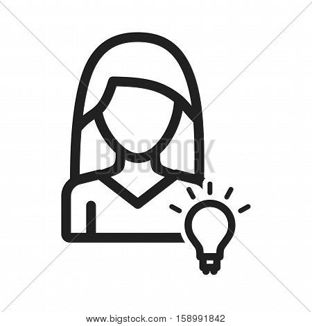 Discover, brainstorming, teamwork icon vector image. Can also be used for women. Suitable for use on web apps, mobile apps and print media.