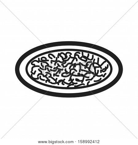 Chicken, alfredo, pasta icon vector image. Can also be used for european cuisine. Suitable for mobile apps, web apps and print media.