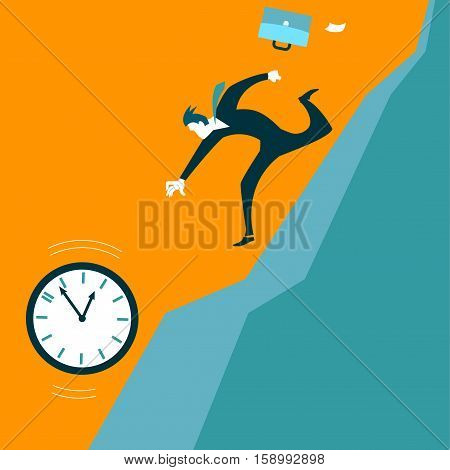 Pursuit of time. The missed opportunities. Vector illustration