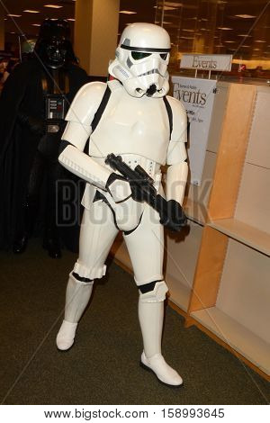 LOS ANGELES - NOV 28:  Stormtrooper at the Book Signing for