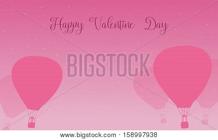 Air balloon valentine day theme vector collection stock