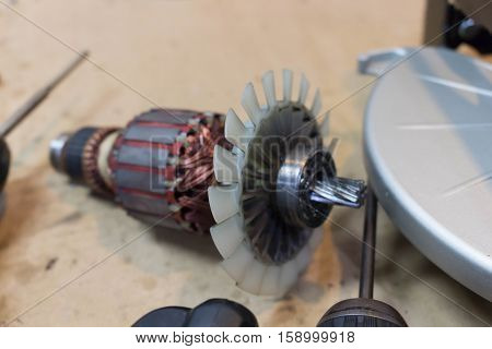 Rotor of electric motor spare parts in power tool