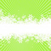 Abstract background with snowflakes. Vector poster
