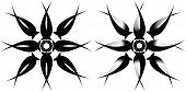 Vector illustration of a tribal star tattoo poster