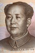 Mao Zedong - Mao Tse-tung portrait from Chinese money poster