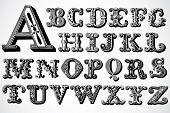 Vector Decorative Alphabet Set