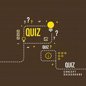 Quizzes, school exam quiz vector abstract background. Questionnaire quiz study illustration poster