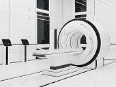 3D illustration.Render Magnetic resonance imaging. Technology medicine. mri poster