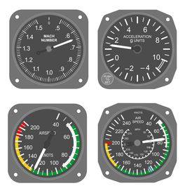 Aircraft instruments set #2