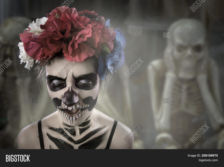 Woman Art Make Scary Image Photo Free Trial Bigstock